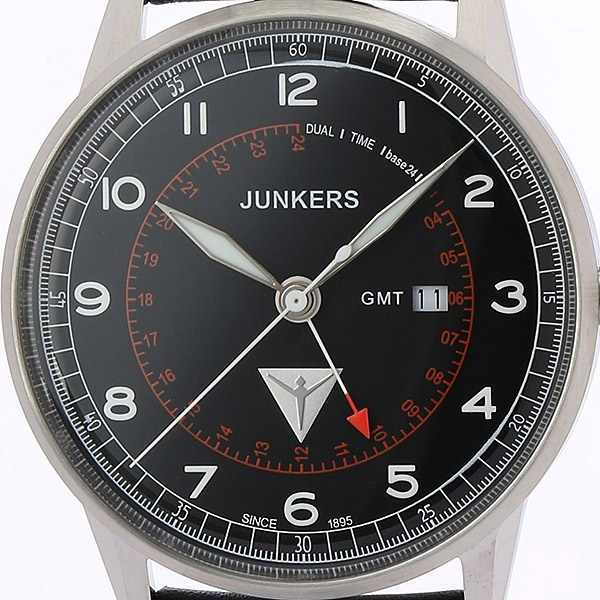 G38 GMT針 メンズ(クオーツ【型番:6946-2QZ)/ユンカース(時計)JUNKERS