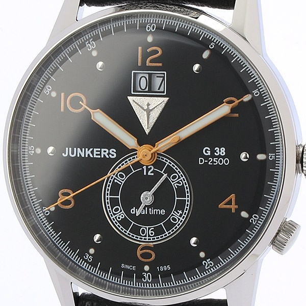 G38 デュアルタイム メンズ(クオーツ【型番:6940-5QZ)/ユンカース(時計)JUNKERS
