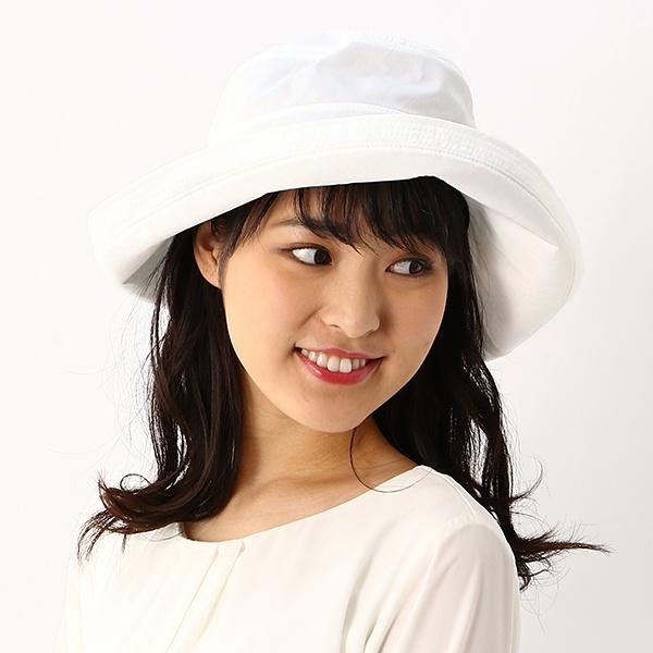 【UV遮蔽率97%以上・サイズ調整OK】手洗いできる麻混ロゴ入りセーラーハット/レディース帽子/フルラ(ネックウェア・帽子)(FURLA)