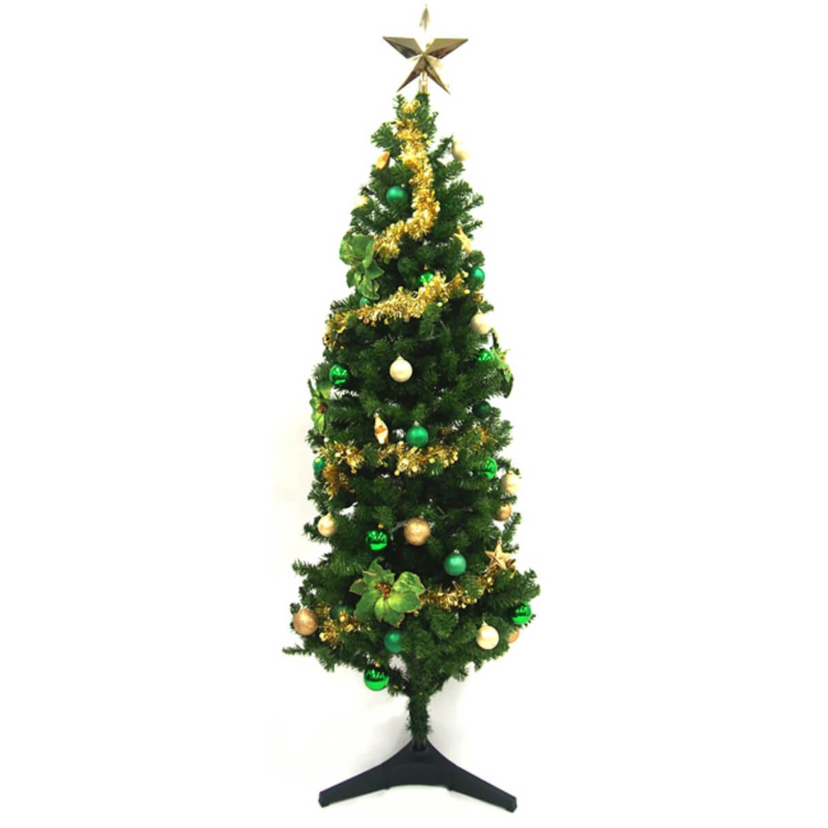 【PCH061 クリスマスツリー(グリーン・ゴールド)】クリスマス装飾 クリスマスツリー デコレーション オーナメント 飾り 冬装飾 送料無料