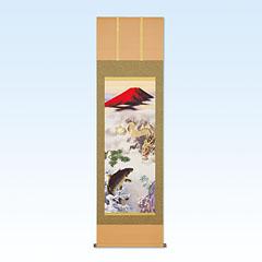掛軸「天龍昇鯉吉祥図・尺五立」