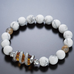 白蛇ブレスレット黄水晶タイプ