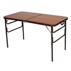 木目調軽量折畳み万能テーブル(幅120cm)