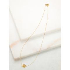 18金飾り玉ネックレス
