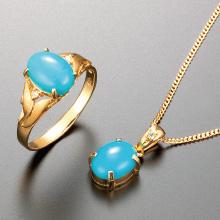 トルコ石ダイヤリング&ペンダントセット