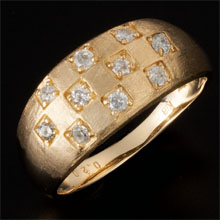 18金ダイヤ黄金の輝きリング