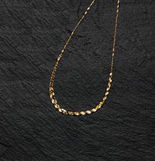 純金ペタル中太ネックレス