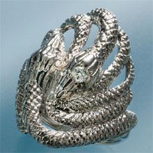 SIダイヤ「白蛇」リング