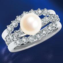 本真珠とダイヤのチェンジリング