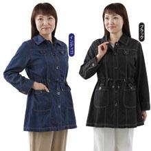 軽くてゆったり着られるデニムジャケット(2着組)