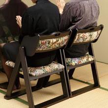 和風折りたたみ椅子2個組