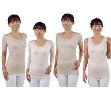 快適肌感で四季に対応テンセル混肌着(4枚組)
