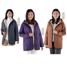ふわ軽中綿キルトコート3色組