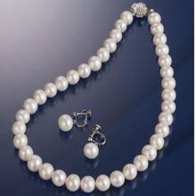 大粒淡水真珠ネックレスセット