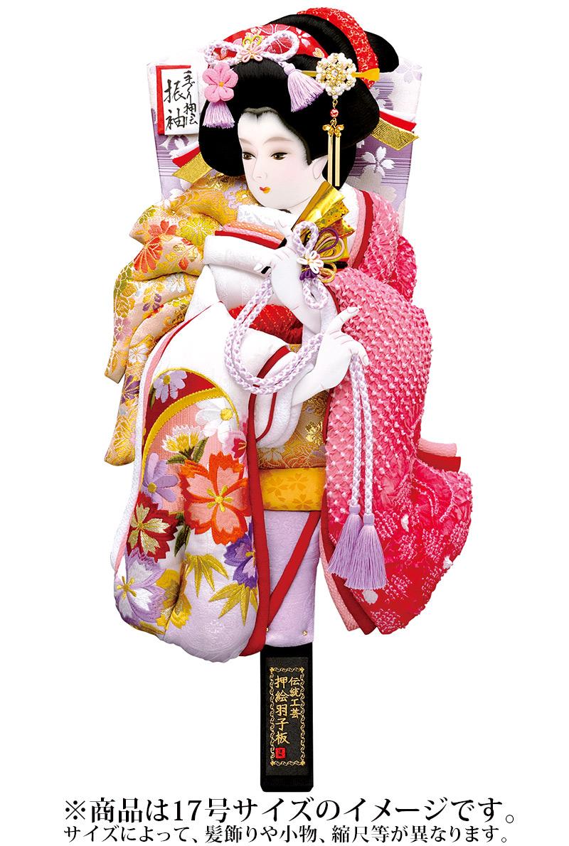 羽子板 単品 祇園 紫 16号 【2019年度新作】 h311-mm-044m-16 人形屋ホンポ
