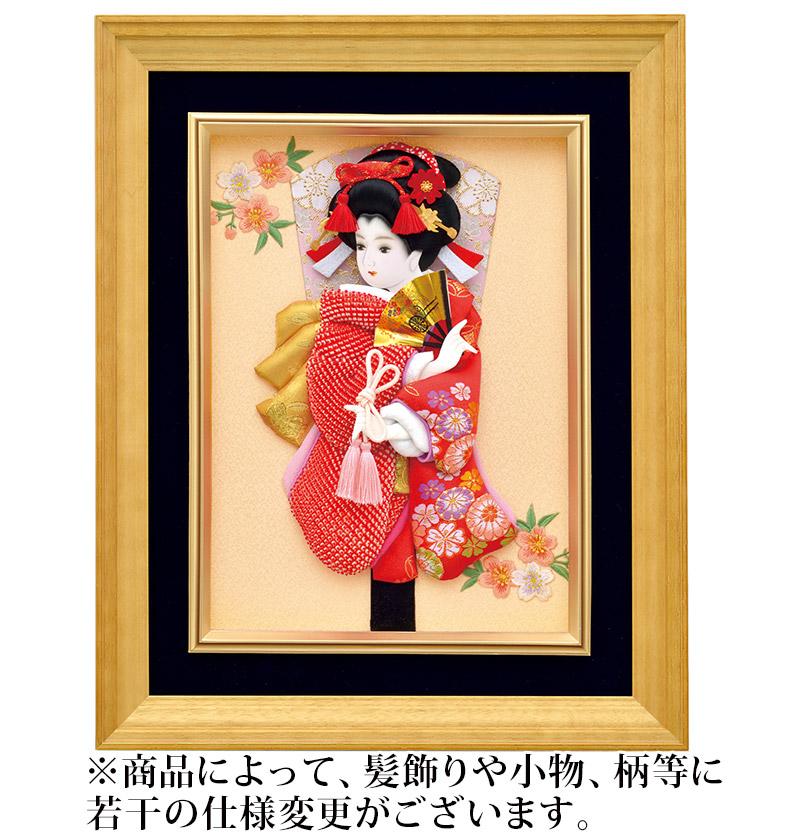 羽子板 額飾り 壁掛け羽子板 鹿の子金襴 【2019年度新作】 h311-mm-021 人形屋ホンポ