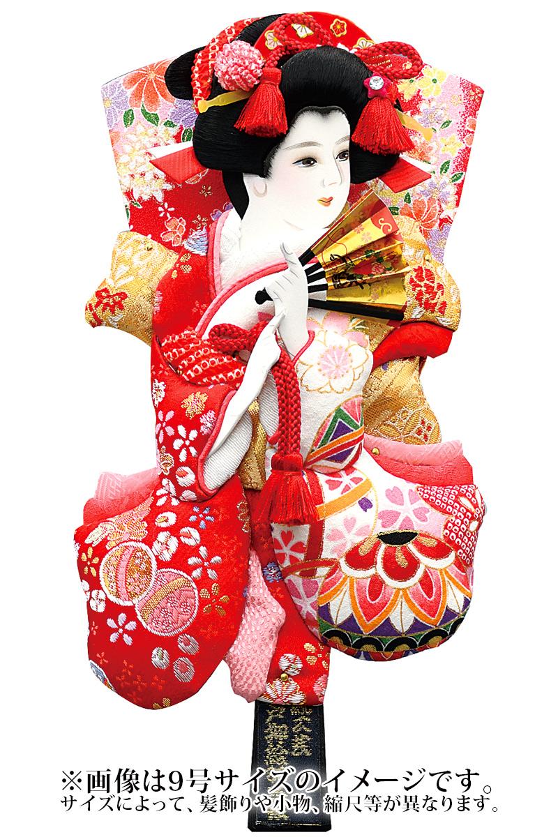 羽子板 単品 撫子姫 友禅 10号 塗り櫛 【2019年度新作】 h311-mm-036y-10 人形屋ホンポ