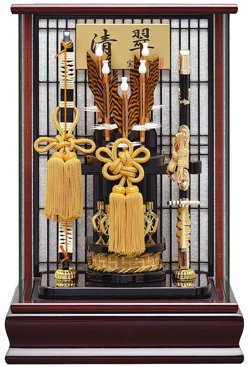 破魔弓 ケース飾り パノラマ 清翠 12号 【2019年度新作】 h311-mm-051 人形屋ホンポ