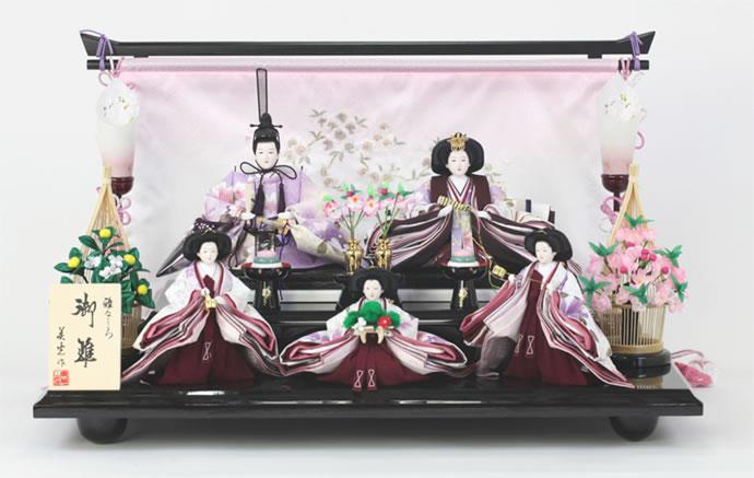 雛人形 特選 ひな人形 段飾り 五人飾り 雛 名匠・逸品飾り 雛人形 特選 美光作 雅なこころ 御雛 お雛様 おひなさま h243-sb-higashi25 おしゃれ かわいい 人形屋ホンポ