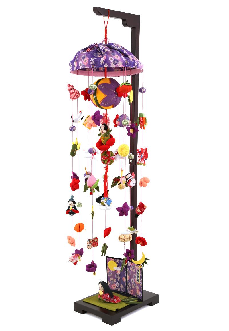 つるし雛 雛人形 特選 ひな人形 つるし飾り 吊るし雛 吊るし飾り さげもん 竹取物語 大 台付 h273-sb-tr-b501s おしゃれ かわいい 人形屋ホンポ