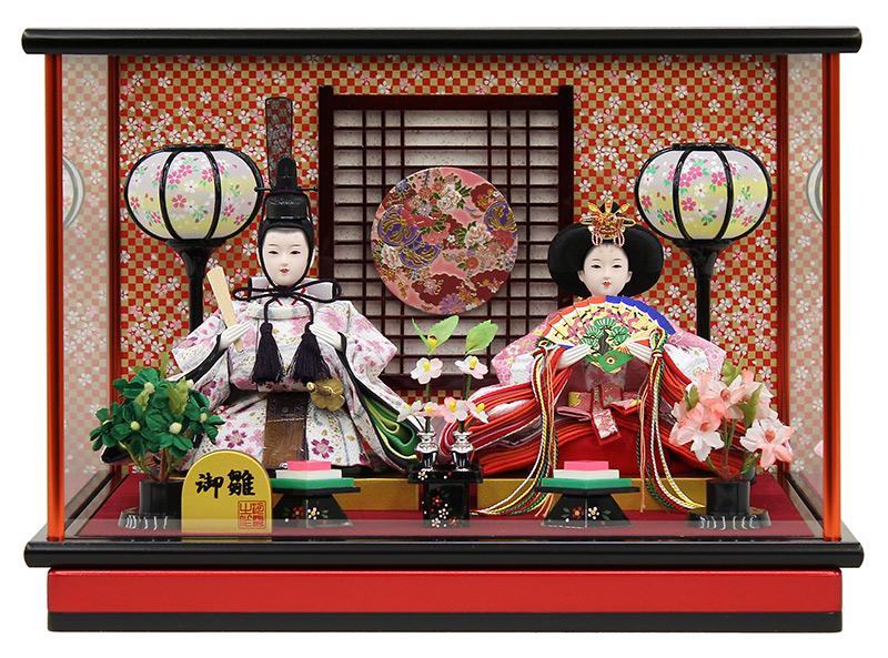 雛人形 コンパクト ひな人形 雛 ケース飾り 親王飾り 御雛 小芥子親王 【2020年度新作】 h023-fz-3300-84-029a