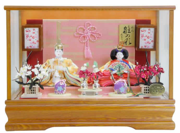 雛人形 特選 ひな人形 小さい コンパクト 雛 ケース飾り 雛 親王飾り 雛 名匠・逸品飾り 雛人形 特選 清月作 特選 雛の彩 芥子 お雛様 おひなさま 3s63227 おしゃれ かわいい 人形屋ホンポ