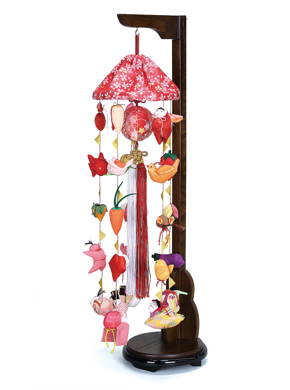 雛人形 ひな人形 雛 つるし飾り つるし雛 さげもん まり飾り (特小) 傘付 吊り台付 【2018年度新作】 h303-fz-4c62-aa-521 【dl】0250ya