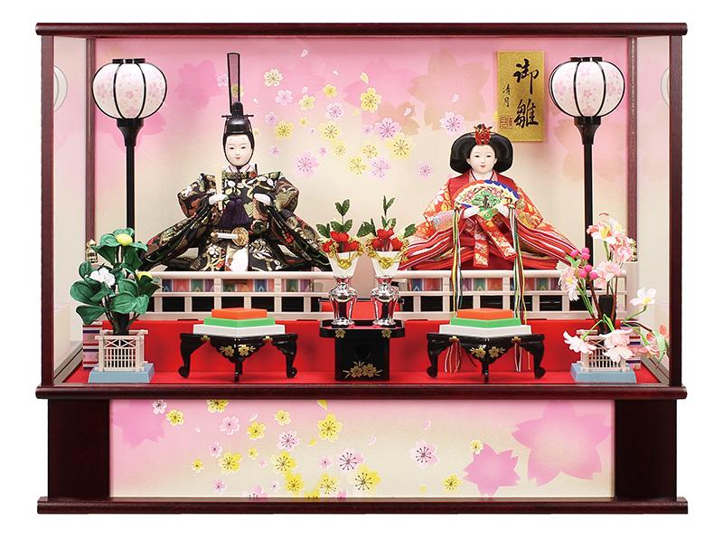 雛人形 特選 ひな人形 雛 ケース飾り 親王飾り 清月作 御雛 三五親王 オルゴール付 【2019年度新作】 h313-fz-3300-86-001a