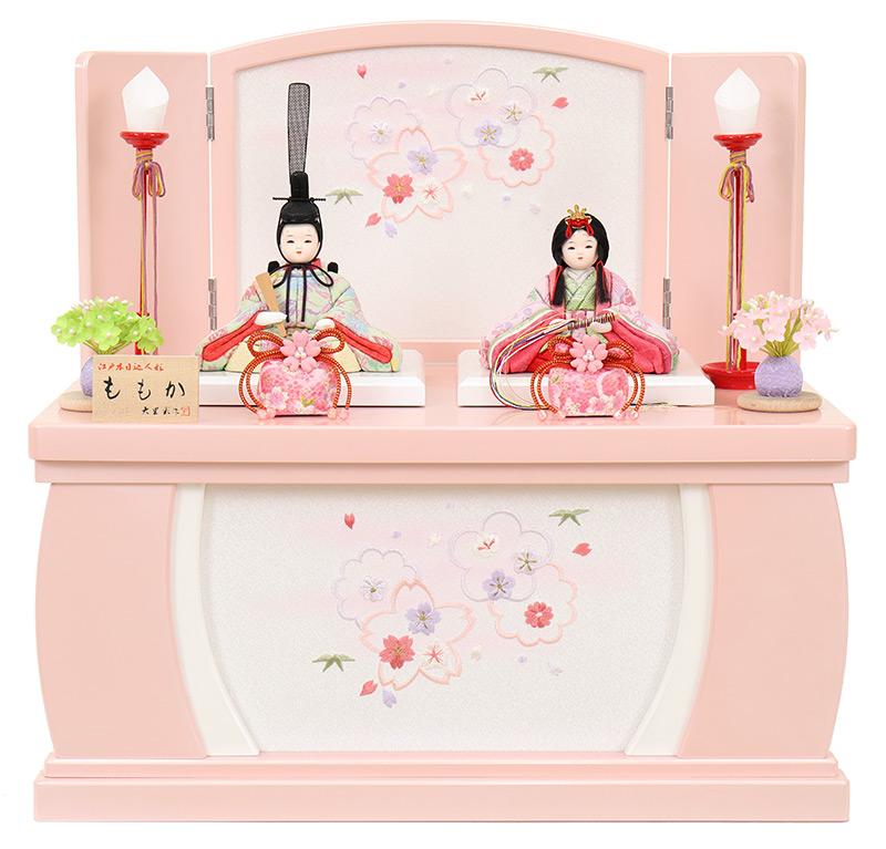 送料無料 最安値に挑戦 2021年度新作 本店 雛人形 コンパクト ひな人形 雛 コンパクト収納飾り 木目込人形飾り 親王飾り h033-fz-4f42-fk-202 低廉 入目頭 ももか 大里彩作