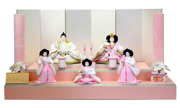雛人形 特選 後藤人形 後藤由香子 ひな人形 五人飾り 段飾り 雛 名匠・逸品飾り 雛人形 特選 藤匠作 お花畑においでよ お雛様 おひなさま goto-ohana-b おしゃれ かわいい 人形屋ホンポ