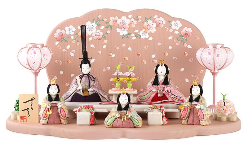 雛人形 一秀 ひな人形 雛 木目込人形飾り 段飾り 五人飾り 木村一秀作 さくらさくら 1号 【2019年度新作】 h313-ic-118
