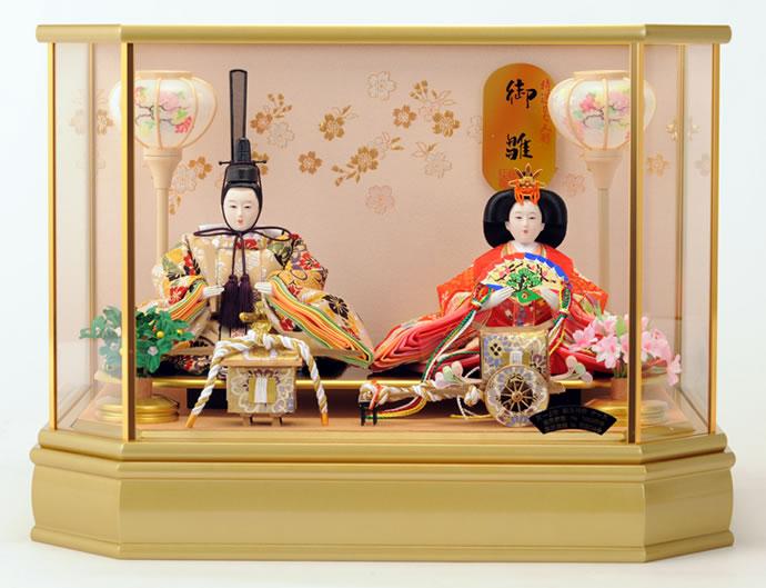 雛人形 特選 ひな人形 雛 ケース飾り 親王飾り 特選ひな人形 御雛 【2015年度新作】 h233-mi-ks-s689 おしゃれ かわいい 人形屋ホンポ