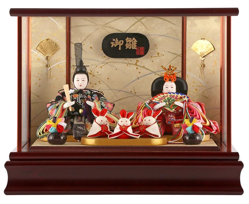 雛人形 特選 ひな人形 小さい コンパクト 雛 ケース飾り 親王飾り 御雛 柳 h233-mi-ks-s717 おしゃれ かわいい 人形屋ホンポ