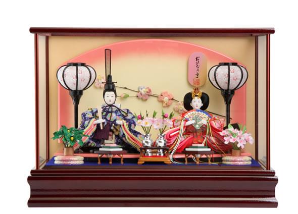 雛人形 特選 ひな人形 小さい コンパクト 雛 ケース飾り 雛 親王飾り 雛人形 特選 おひなさま お雛様 おひなさま mi-ks-s630 おしゃれ かわいい 人形屋ホンポ