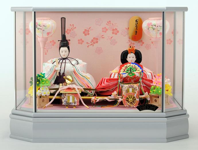 雛人形 特選 ひな人形 雛 ケース飾り 親王飾り おひなさま h233-mi-ks-s690 【2015年度新作】 おしゃれ かわいい 人形屋ホンポ