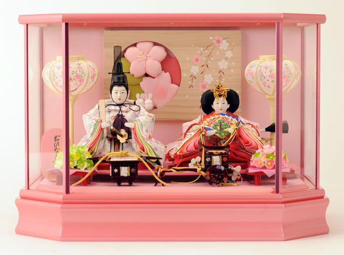 雛人形 特選 ひな人形 雛 ケース飾り 親王飾り おひなさま ひな人形 【2015年度新作】 h233-mi-ks-s726 おしゃれ かわいい 人形屋ホンポ