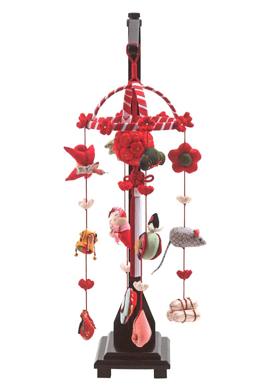 雛人形 久月 ひな人形 雛 つるし飾り つるし雛 さげもん 卓上型 正絹 スタンド付 【2018年度新作】 h303-k-krn-2 K-140 【dl】0250ya_1