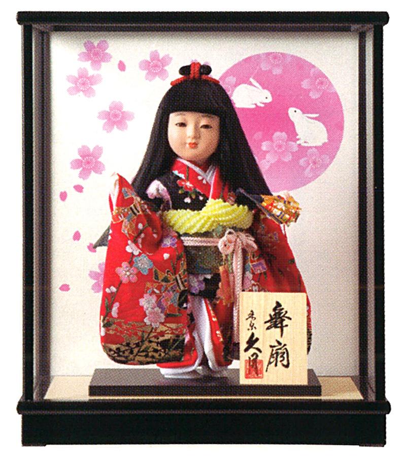 雛人形 特選 久月 ひな人形 雛 浮世人形 ケース飾り 都印8 あかね 扇 【2019年度新作】 h313-k-miyako8-ak-722 K-134