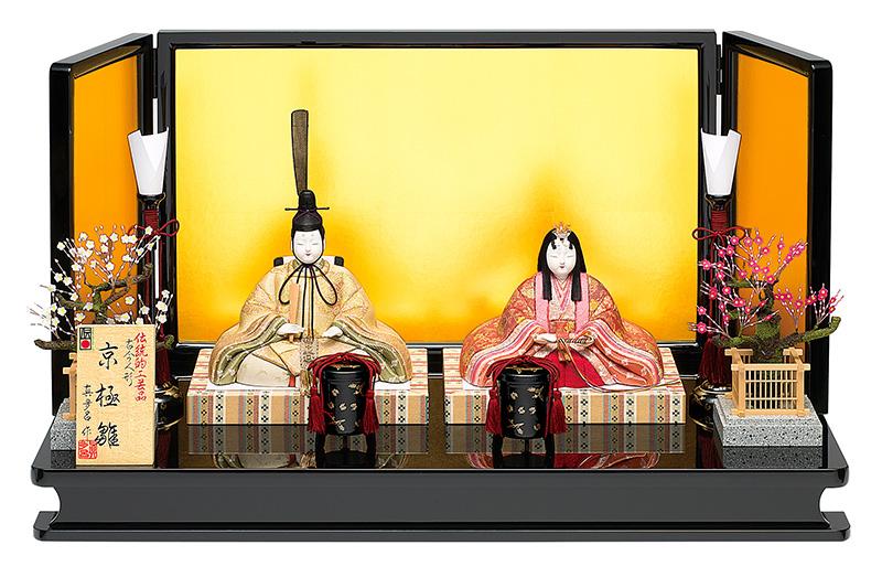 雛人形 真多呂 ひな人形 雛 木目込人形飾り 平飾り 親王飾り 真多呂作 古今人形 京極雛セット 正絹 伝統的工芸品 【2019年度新作】 h313-mt-1265
