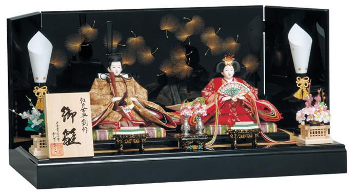 雛人形 特選 平安豊久 ひな人形 雛 親王飾り 雛 平飾り 雛 名匠・逸品飾り 雛人形 特選 雛匠かずひこ作 るか お雛様 おひなさま h243-mo-304427 おしゃれ かわいい 人形屋ホンポ