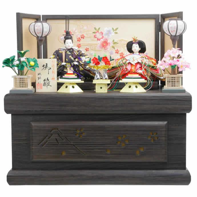 雛人形 特選 ひな人形 雛 収納飾り 親王飾り 御雛 h243-aka-10-74 おしゃれ かわいい 人形屋ホンポ