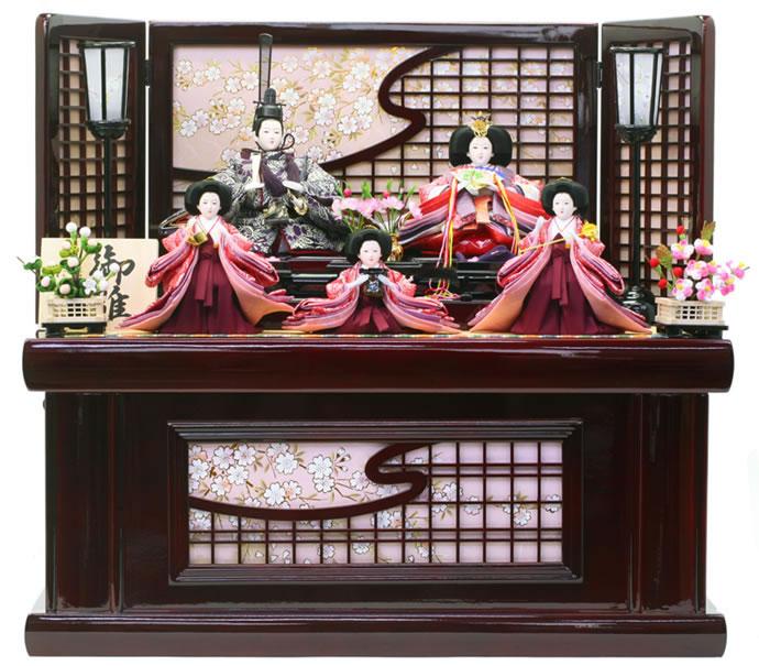 雛人形 特選 ひな人形 小さい 雛 コンパクト収納飾り 五人飾り 雛人形 特選 御雛 お雛様 おひなさま h243-aki-10 おしゃれ かわいい 人形屋ホンポ