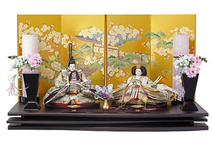 雛人形 特選 ひな人形 雛 親王飾り 雛 平飾り 雛 名匠・逸品飾り 雛人形 特選 お雛様 おひなさま h243-aki-1-17 おしゃれ かわいい 人形屋ホンポ