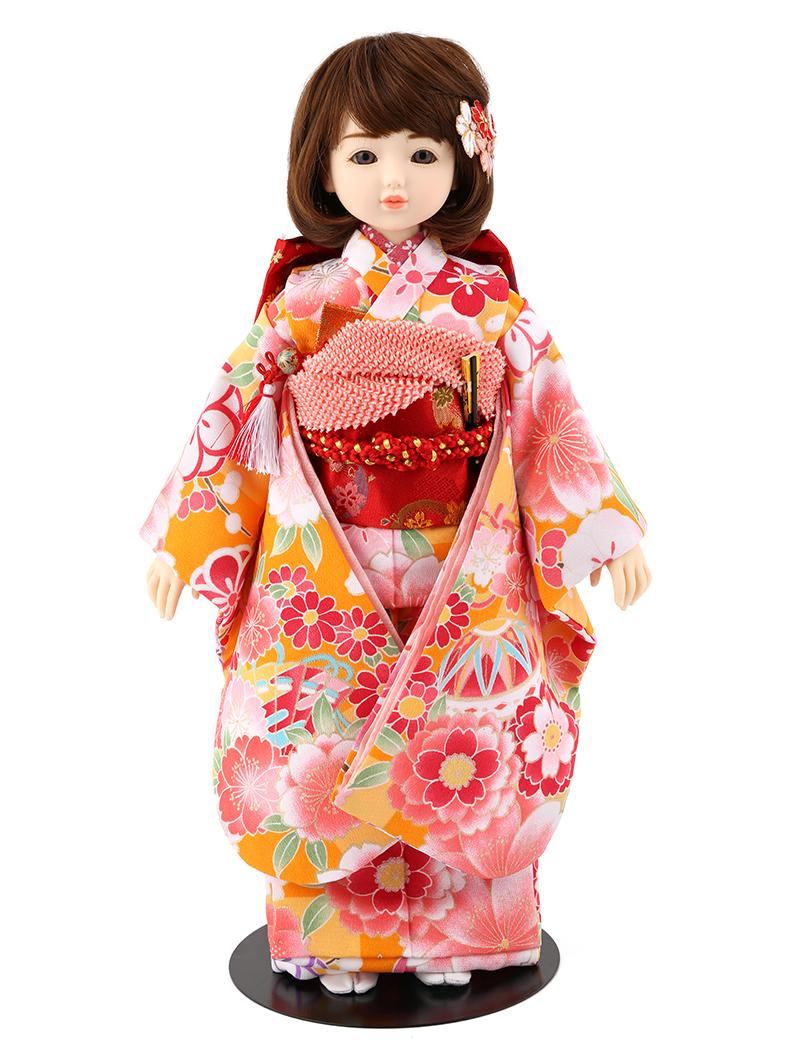 ドールファン必見 遊べるお人形 球体関節人形 aya 着物セット 山吹 ショートカール(ブラウン) mimy-a-brsc-jaw06 人形屋ホンポ