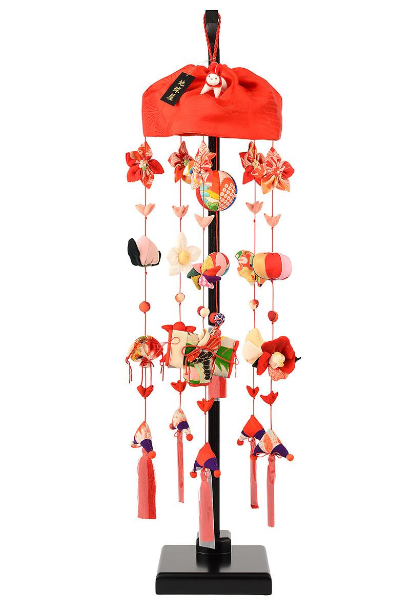 つるし雛 地球屋 雛人形 ひな人形 つるし飾り 室内飾り 特注仕様 限定品 雛人形 No.2 正絹 木製台 お雛様 おひなさま set-h273-tky-tr-002