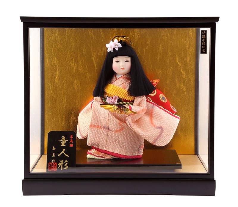 雛人形 特選 ひな人形 小さい コンパクト 雛 ケース飾り 市松人形 雛 名匠・逸品飾り 雛人形 特選 寿宝作 京呉服 童人形 8号 お雛様 おひなさま wt-2002-jyuhou383 おしゃれ かわいい 人形屋ホンポ