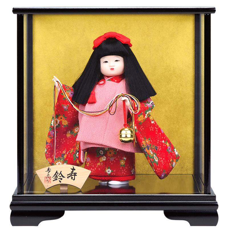 雛人形 スキヨ ひな人形 雛 ケース飾り 浮世人形 寿喜代作 寿鈴246 友禅 【2018年度新作】 h303-sk-246 おしゃれ かわいい 人形屋ホンポ