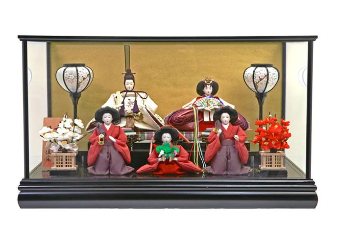 雛人形 特選 スキヨ ひな人形 小さい コンパクト 雛 ケース飾り 五人飾り 雛 名匠・逸品飾り 雛人形 特選 佳宗作 お雛様 おひなさま h243-sk-k03-600b おしゃれ かわいい 人形屋ホンポ