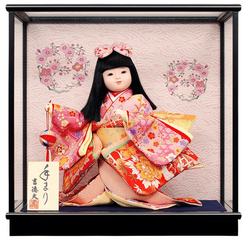 雛人形 吉徳大光 ひな人形 雛 ケース飾り 浮世人形 手まり 【2019年度新作】 h313-ys-343523