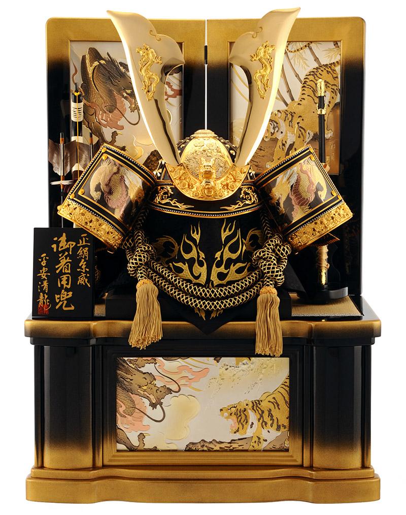 五月人形 兜 収納 飾り 着用 30号 清龍 大着用兜 h265-sb-s-4-kg 人形屋ホンポ